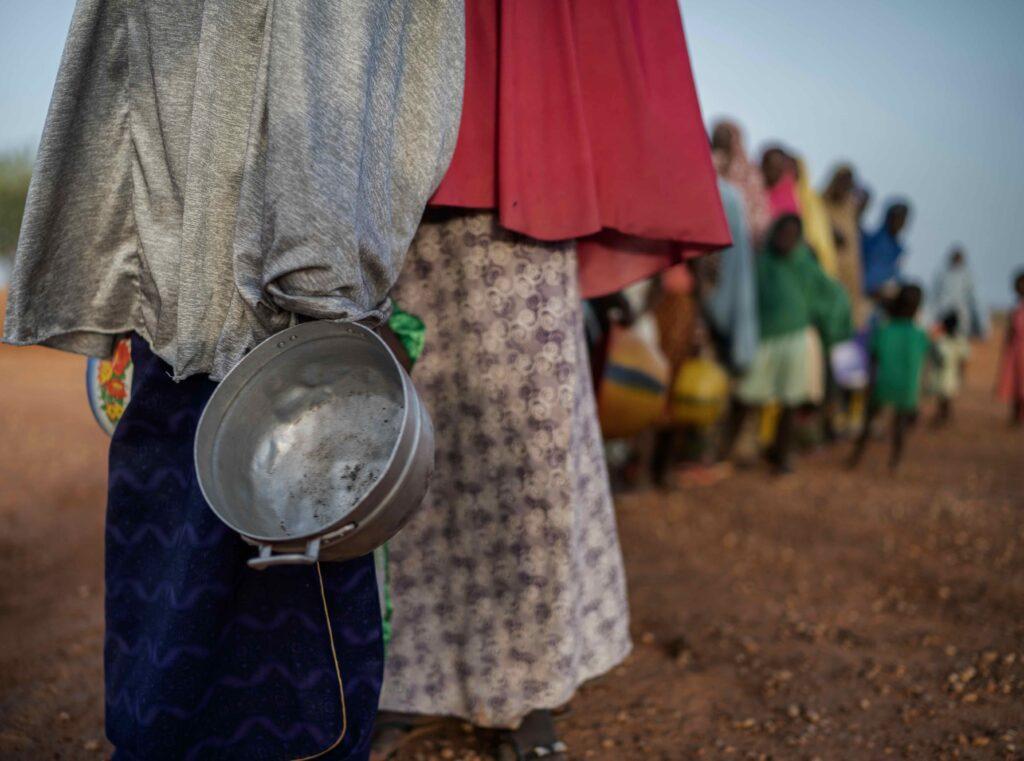Dr Kalibata - nutrition - queue of people