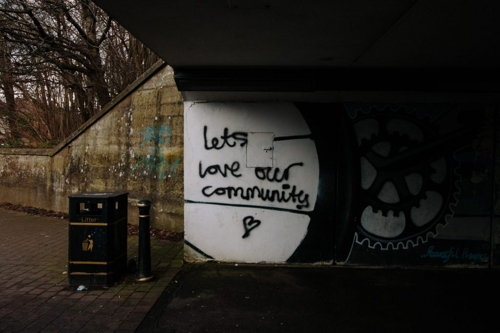 lets love over community text wall