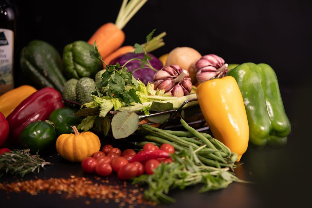 assorted vegetables on table
