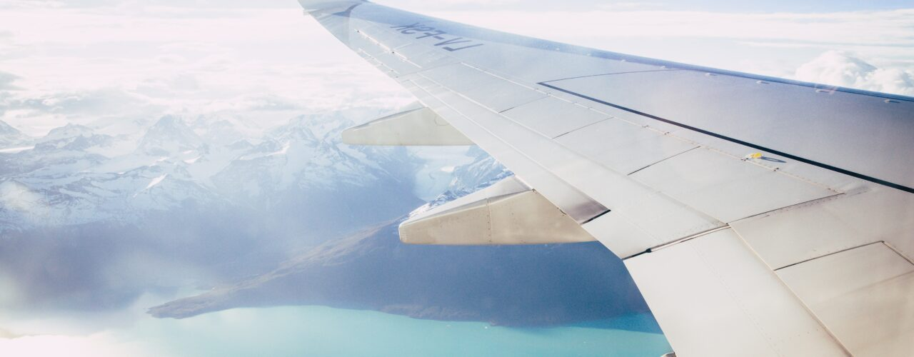 window plane wing photography