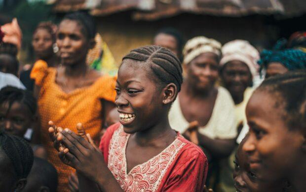 Women in African village