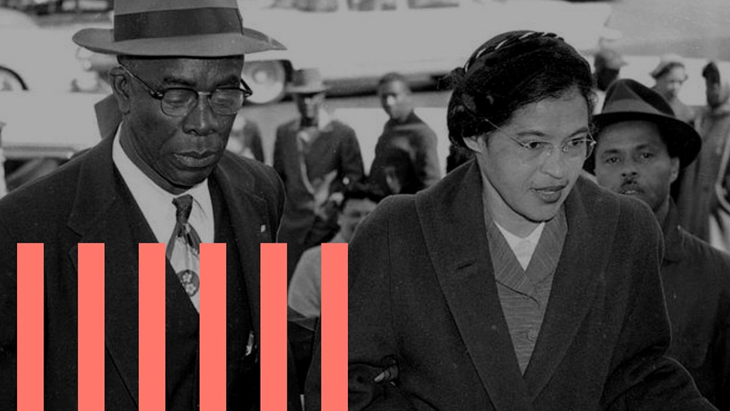 Rosa Park walking through a crowd. Systems do change: four lessons from the civil rights movement in the US.