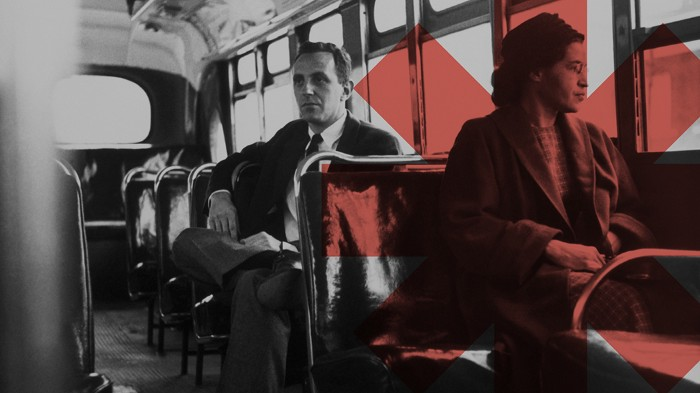 Rosa Parks on a bus. Systems do change: four lessons from the civil rights movement in the US.