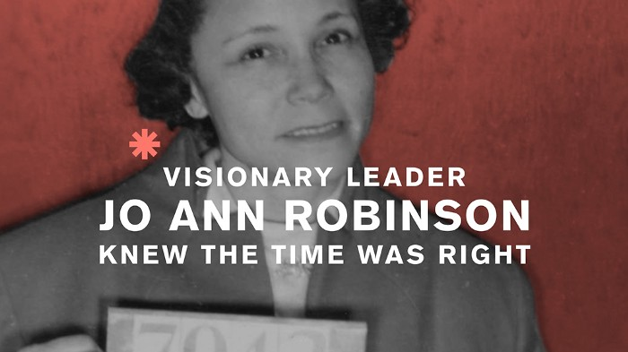 JoAnn Robinson called for the non-violent bus boycott, which brought the introduction of the Reverend Martin Luther King Jr. Systems do change: four lessons from the civil rights movement in the US.