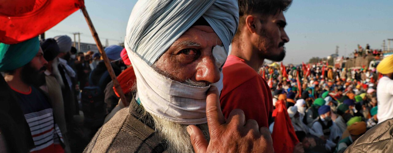 Farmer protests in Delhi, India www.thefuturescentre.org/signal/crackdown-on-protest-against-indias-farm-acts