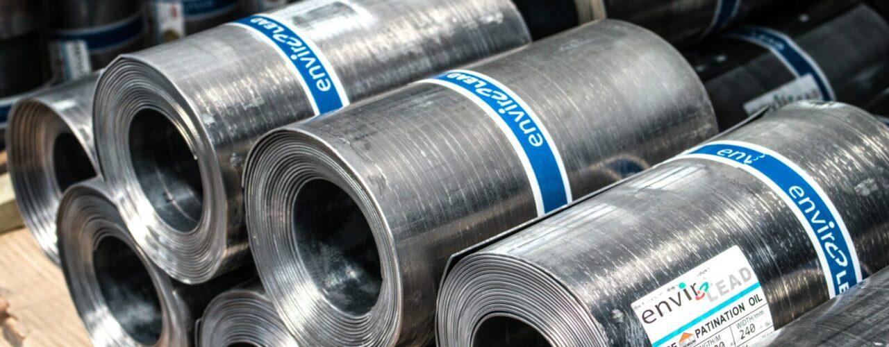 rolled gray steel sheet