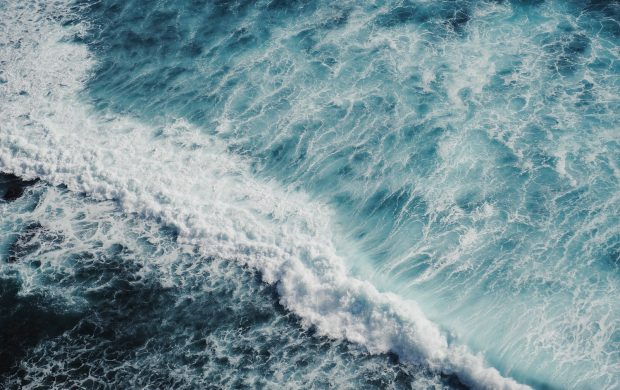 bird's-eye view of sea waves