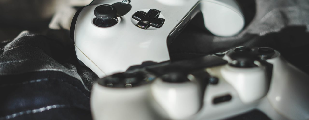 two white controllers