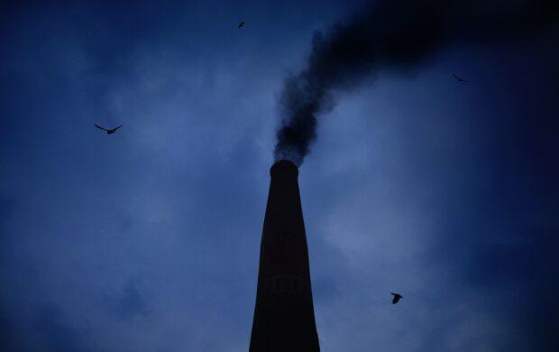 smoking chimney during night